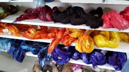 Yarns - Hand dyed Merino /Silk - 1 ounce 50% Merino/ 50%Silk Hand dyed